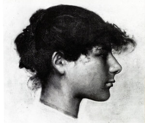 Head of Ana-Capri Girl 1878