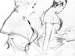 Madame Gautreau (two studies) 1883
